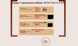 Etapes i operacions militars de la guerra civil