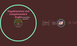 Supplementary and Complimentary Angles