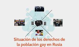 Situación de los derechos de la población gay en Rusia