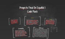 Proyecto Final De Español 1