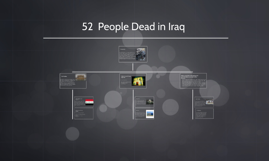 52 Dead In Iraq