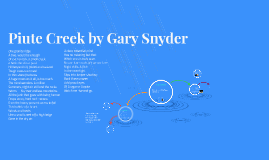 Piute Creek by Gary Snyder