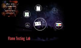 Flame Testing  Lab
