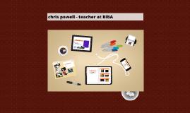 chris powell - teacher at BIBA