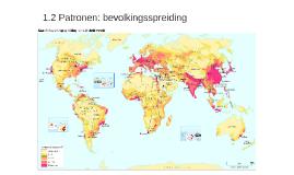 1.2 Patronen: bevolkingsspreiding