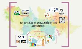 Estrategias de evaluación de los aprendizajes