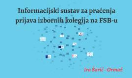 Informacijski sustav za praćenje prijava izbornih predmeta na FSB-u