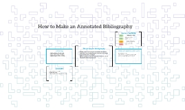 How to Make an Annotated Bibliography