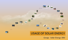 USAGE OF SOLAR ENERGY
