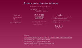 Americanization in Schooling