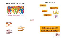 Introduktion till Samhällskunskap 2