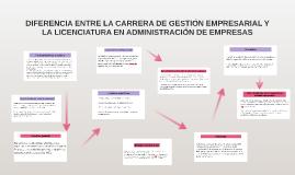 Copy of DIFERENCIA ENTRE LA CARRERA DE GESTIÓN EMPRESARIAL Y LA LICE