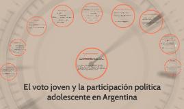 El voto joven y la participación política adolescente en Arg