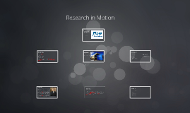 Tech Company - Research in Motion
