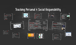 Teaching Personal & Scocial Responsibility Model