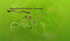Copy of Belege für die Evolution : Parasiten