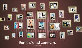 Dorothys List 2016-2017