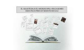SELECCIÓN DE MICROQUIJOTES DE JUAN ARMANDO EPPLE APLICADOS A LA ENSEÑANZA DE E/LE