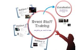 Event Staff Training 2016-2017