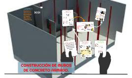 Construcción de muros de concreto armado