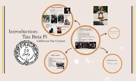 Introduction: Tau Beta Pi