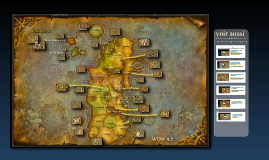 World of Warcraft - Kalimdor, carte des zones