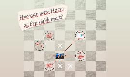 Hvordan sette Høyre og Frp sjakk matt?