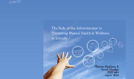 Promoting Mental Health in Schools: The Role of the Administrator