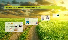 Cambios Psico Sociales en la Adolescencia