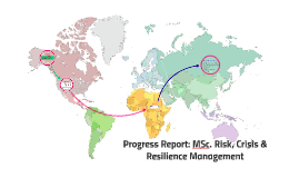 Progress Report: MSc. Risk, Crisis & Resilience Management