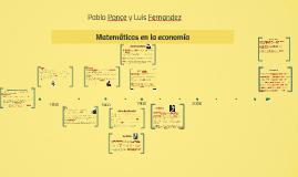 Copy of Matemáticas en la economía
