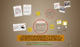 ESTRATEGIAS DE MARKETING Y SU EFECTO LA CONCURRENCIA DE PACI