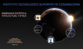 Copy of DIMENSION ESTETICA, ETICA E INTELECTUAL