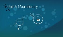Unit 4.1 Vocabulary