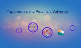 Toponimia de la Provincia Valverde