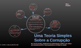 Uma Teoria Simples Sobre a Corrupção