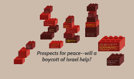 Copy of Prospects for peace--will a boycott of Israel help?