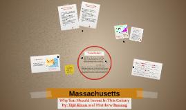 Massachusetts: Colonial Period