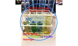 Protolyse av salter og gasser i vann