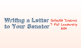 Writing a Letter to Your Senator