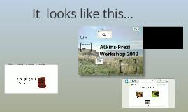 Prezi workshop @ Atkins
