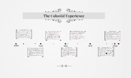 ECON: The Colonial Experience Timeline