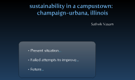Sustainability in a campustownChampaign, IL