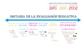 HISTORIA DE LA EVALUACION EDUCATIVA