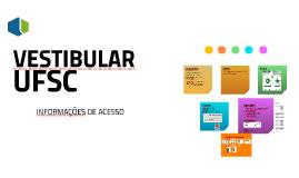 VESTIBULAR da UFSC - Informações