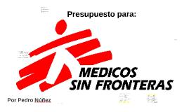 Presupuestos para MSF