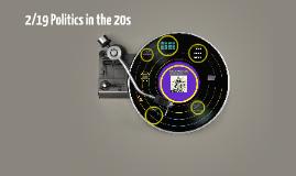 Politics in the 20s