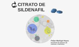CITRATO DE SILDENAFIL
