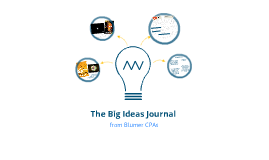 The Big Ideas Journal from Blumer CPAs