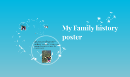 My Family history poster